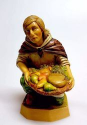 Picture of Shepherd begging for Alms cm 20 (7,9 inch) Pellegrini Nativity Scene small size Statue Wood Stained plastic PVC traditional Arabic indoor outdoor use