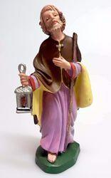 Immagine di San Giuseppe cm 16 (6,3 inch) Presepe Pellegrini Colorato Statua in plastica PVC Arabo tradizionale piccolo per interno esterno