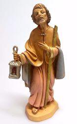 Immagine di San Giuseppe cm 16 (6,3 inch) Presepe Pellegrini Tinto Legno Statua in plastica PVC Arabo tradizionale piccolo per interno esterno