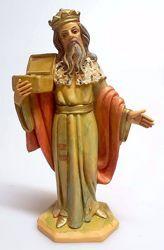 Immagine di Gaspare Re Magio Bianco cm 16 (6,3 inch) Presepe Pellegrini Tinto Legno Statua in plastica PVC Arabo tradizionale piccolo per interno esterno
