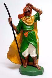 Immagine di Cammelliere cm 16 (6,3 inch) Presepe Pellegrini Colorato Statua in plastica PVC Arabo tradizionale piccolo per interno esterno