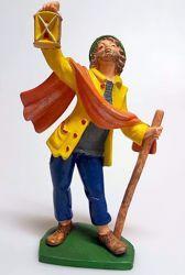 Immagine di Pastore con Lanterna cm 16 (6,3 inch) Presepe Pellegrini Colorato Statua in plastica PVC Arabo tradizionale piccolo per interno esterno