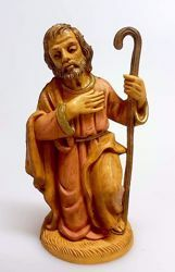 Picture of Saint Joseph cm 12 (4,7 inch) Pellegrini Nativity Scene small size Statue Wood Stained plastic PVC traditional Arabic indoor outdoor use