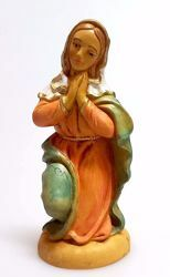 Picture of Mary / Madonna cm 12 (4,7 inch) Pellegrini Nativity Scene small size Statue Wood Stained plastic PVC traditional Arabic indoor outdoor use