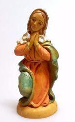 Imagen de María / Madonna cm 12 (4,7 inch) Belén Pellegrini Estatua en plástico PVC árabe tradicional pequeño Efecto Madera para uso en interior exterior