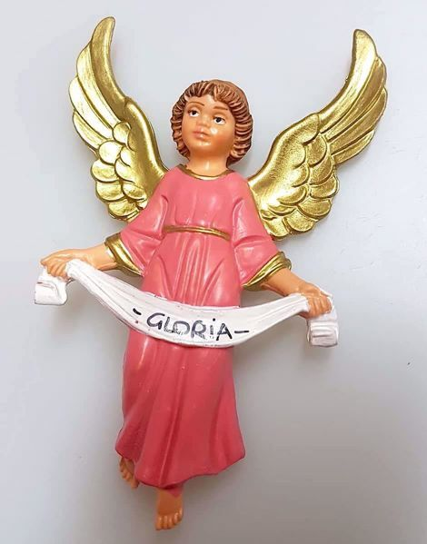 Immagine di Angelo Gloria cm 12 (4,7 inch) Presepe Pellegrini Colorato Statua in plastica PVC Arabo tradizionale piccolo per interno esterno