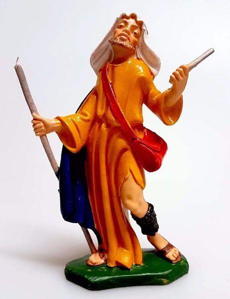 Immagine di Cammelliere cm 12 (4,7 inch) Presepe Pellegrini Colorato Statua in plastica PVC Arabo tradizionale piccolo per interno esterno