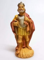 Picture of King Herod cm 12 (4,7 inch) Pellegrini Nativity Scene small size Statue Wood Stained plastic PVC traditional Arabic indoor outdoor use