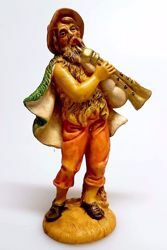 Picture of Bagpiper cm 12 (4,7 inch) Pellegrini Nativity Scene small size Statue Wood Stained plastic PVC traditional Arabic indoor outdoor use