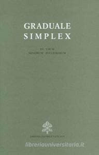 Picture of Graduale simplex (in usum minorum ecclesiarum) Editio Typica Altera, reimpressio 2007