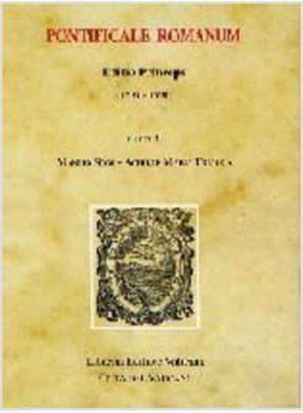 Immagine di Pontificale Romanum. Editio Princeps (1595-1596)