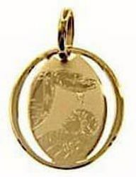 Picture of Baptism Gift of God Sacred Oval Medal Pendant for Baptism gr 0,7 Yellow Gold 18k for Baby Girl and Boy