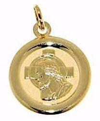 Imagen de Cristo Jesús con Aureola Medalla Sagrada Colgante redonda gr 1,35 Oro amarillo 18kt para Mujer