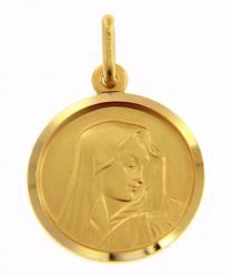 Picture of Madonna Our Lady of Sorrows Coining Sacred Medal Round Pendant gr 3,4 Yellow Gold 18k for Woman