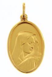 Picture of Madonna Our Lady of Sorrows Coining Sacred Oval Medal Pendant gr 4,7 Yellow Gold 18k for Woman