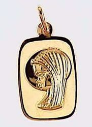 Picture of Madonna with aureole Sacred Rectangular Medal Pendant gr 1,1 Yellow Gold 18k for Woman