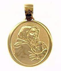 Imagen de Virgen con el Niño de Ferruzzi Medalla Sagrada Colgante oval gr 3,2 Oro amarillo 18kt para Mujer