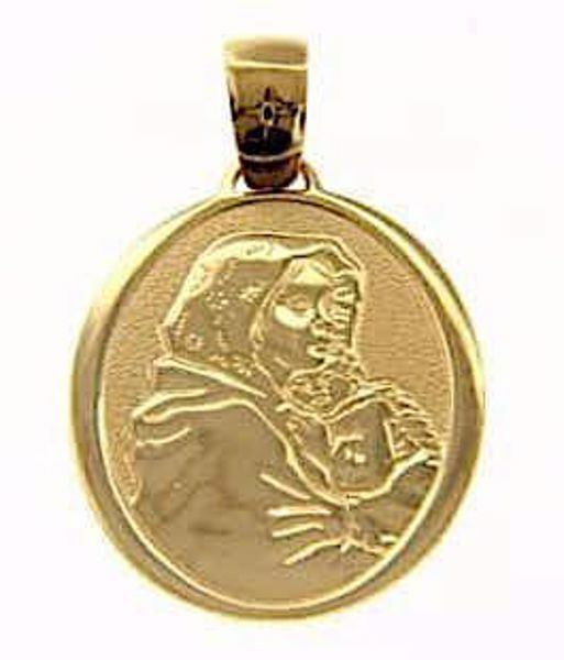 Picture of Madonna and Child by Ferruzzi Sacred Oval Medal Pendant gr 3,2 Yellow Gold 18k for Woman