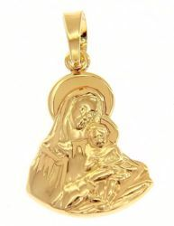 Imagen de Madonna Virgen con el Niño Medalla Colgante gr 2,3 Oro amarillo 18kt para Mujer