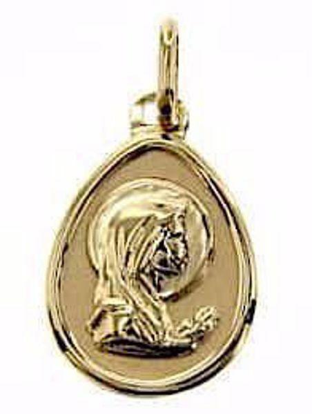 Imagen de Nuestra Señora Madonna en Oración Medalla Colgante oval gr 0,6 Oro amarillo 9kt para Mujer