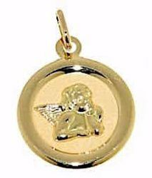 Picture of Angel of Raphael Sacred Medal Round Pendant gr 1,05 Yellow Gold 18k for Woman, Boy and Girl