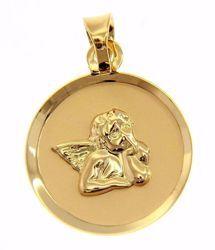 Imagen de Ángel de Rafael Medalla Sagrada Colgante redonda gr 0,75 Oro amarillo 18kt para Mujer y para Niña y Niño