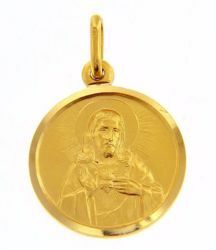 Picture of Sacred Heart of Jesus Coining Sacred Medal Round Pendant gr 3,3 Yellow Gold 18k with smooth edge Unisex Woman Man