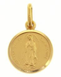 Picture of Madonna Nuestra Señora Virgen de Guadalupe Coining Sacred Medal Round Pendant gr 2 Yellow Gold 18k with smooth edge Unisex Woman Man