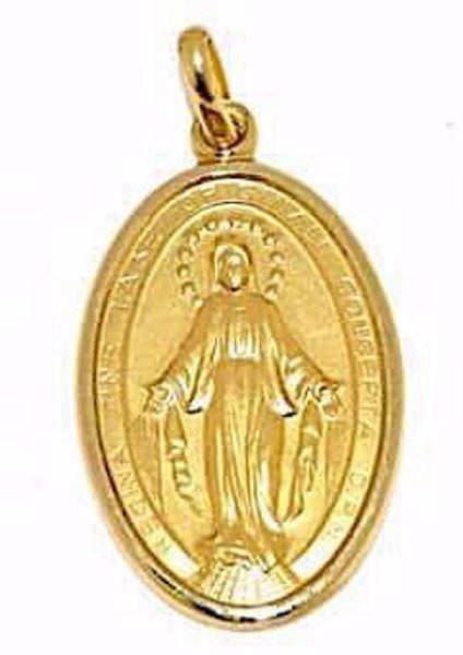 Immagine di Madonna Miracolosa Medaglia Sacra Pendente ovale Conio gr 6,7 Oro giallo 18kt Unisex Donna Uomo