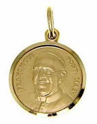 Imagen de Papa Francisco Franciscus Pontifex Maximus Medalla Sagrada Colgante redonda Acuñación gr 3,5 Oro amarillo 18kt Unisex Mujer Hombre