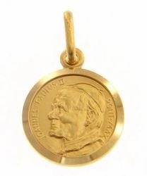 Imagen de Santo Papa Juan Pablo II Ioannes Paulus II Pontifex Maximus Medalla Sagrada Colgante redonda Acuñación gr 2,1 Oro amarillo 18kt Unisex Mujer Hombre