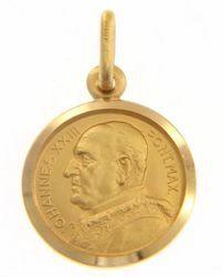 Imagen de Santo Papa Juan XXIII Ioannes XXIII Pontifex Maximus Medalla Sagrada Colgante redonda Acuñación gr 2,5 Oro amarillo 18kt Unisex Mujer Hombre