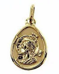 Picture of Holy Face of Jesus Christ with aureole Oval Medal Pendant gr 0,65 Yellow Gold 9k Unisex Woman Man
