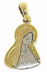 Picture of Madonna Our Lady of Sorrows Pendant gr 2,5 Bicolour yellow white Gold 18k for Woman