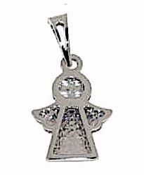 Picture of Guardian Angel with Light Spots Pendant gr 1,2 White Gold 18k for Woman