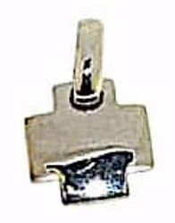 Immagine di Croce bombata quadrata Ciondolo Pendente gr 2 Oro bianco massiccio 18kt da Donna