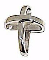 Immagine di Croce con bracci ad anello Ciondolo Pendente gr 1,15 Oro bianco 18kt da Donna