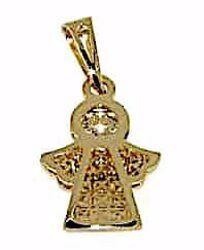 Immagine di Angelo Custode con punti luce Ciondolo Pendente gr 1,1 Oro giallo 18kt da Donna
