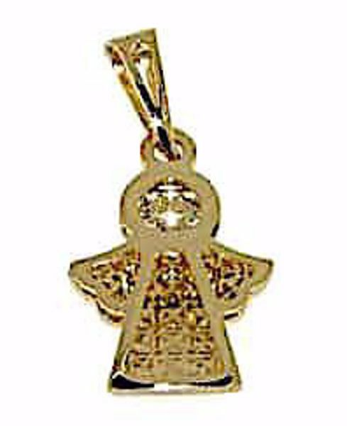 Picture of Guardian Angel with Light Spots Pendant gr 1,1 Yellow Gold 18k for Woman