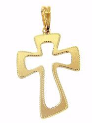 Picture of Openworked Cross Pendant gr 1,2 Yellow Gold 18k relief printed plate for Woman