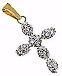 Picture of 6-drops Cross Pendant gr 0,45 Yellow Gold 18k with Zircons for Woman