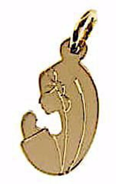 Imagen de Nuestra Señora Madonna en Oración Colgante gr 1,6 Oro amarillo 18kt para Mujer