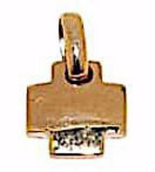Picture of Square convex Cross Pendant gr 2 Rose solid Gold 18k for Woman