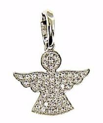 Picture of Guardian Angel with Light Spots Pendant gr 1,8 White Gold 18k with Zircons for Woman, Boy and Girl
