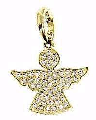Picture of Guardian Angel with Light Spots Pendant gr 1,9 Yellow Gold 18k with Zircons for Woman, Boy and Girl