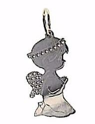 Picture of Guardian Angel Pray for Me Pendant gr 0,8 White Gold 18k for Children (Boys and Girls)