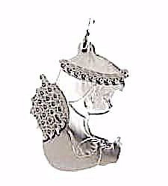 Picture of Guardian Angel sitting Pendant gr 0,95 White Gold 18k for Children (Boys and Girls)