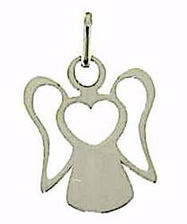 Picture of Stylized Angel with Heart Pendant gr 1 White Gold 18k for Children (Boys and Girls)