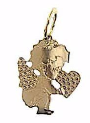 Picture of Guardian Angel Pendant gr 0,95 Yellow Gold 18k for Children (Boys and Girls)