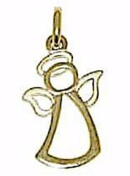 Picture of Stylized Angel Pendant gr 0,75 Yellow Gold 18k for Children (Boys and Girls)